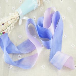 Best new design 32mm  variegated silk ribbon,multicolor ribbon,rainbow 100% silk ribbon,ribbon,embroidery ribbon wholesale