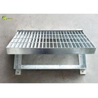China Heavy Duty Step Steel Bar Grating Highway Burglar Drain Trench Cover With Frame on sale