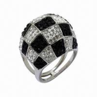 Best Ring with Swarovski Jewelry, Sterling Silver Ring with Crystal wholesale