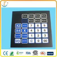 Best Adhesive PET LED Membrane Switch Keyboard With Embossed Metal Dome Push Button wholesale