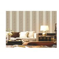 PVC project wallpaper stripe design with damask flower fashion and troditional