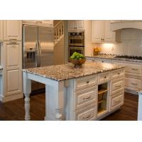 China Calacatta Italian Marble Kitchen Countertop Plain Color Dupont Eased Edge on sale