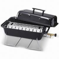 China Portable Barbecue Gas Grill with Table Top, Chrome-wired Legs and Cooking Grid, Made in Taiwan on sale
