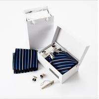 China Magnet closure bow tie collapsible gift paper packaging box with black ribbon tie close on sale