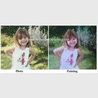 China Children Portraits Painting Oil on Canvas Professional Photo to Painting Gift on sale
