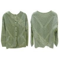 Best Crew Neck Womens Cable Knit Sweater Button Up Cardigan Pocket Autumn Winter wholesale