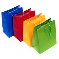 Best Personalized Printed Paper Gift Bags , Colorful Rope Handle Paper Bags wholesale