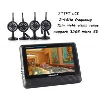 "Best Home Wireless DVR Security System Camera Baby Monitor 2.4ghz 7"" TFT LCD Screen wholesale"