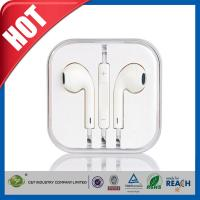 China Handsfree Stereo iPhone 6 Earphones Earbuds with Remote / Microphone wholesale