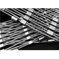 China 316 Stainless Steel Wire Rope Mesh / Diamond Shape Ferrule Rope Mesh on sale