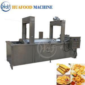 Best Chain Belt Type Continuous Automatic Fryer Machine Food Grade 30KW Adjustable Temperature wholesale