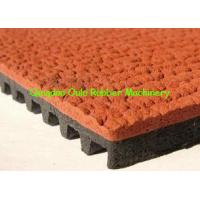 Continuous Rubber Mat Machine , Prefabricated Type Track Rubber Production Line