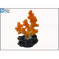 Best Colorful Coral Aquarium Tank Decorations / Resin Cleaning Fish Tank Ornaments Products wholesale