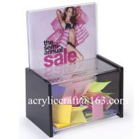 China Elegant Comment box , Acrylic Donation Boxes, Plexiglass suggestion box on sale