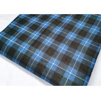 China Textile Plaid Flannel Fabric Cloth Pure Cotton Tear Resistant For Shirt on sale