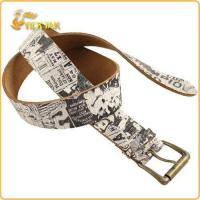 Buy cheap Women Leather Belts with Crack of Strap from wholesalers