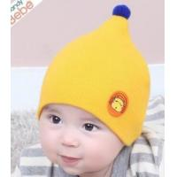 Best Baby hat round mark animals candy color small hair ball children nipple hat warm knit hat wholesale wholesale