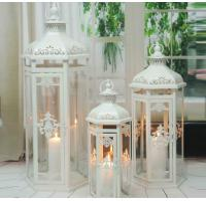 Best White Rustic Metal Candle Lantern Online Antique & Vintage Store Fabulous Lantern wholesale