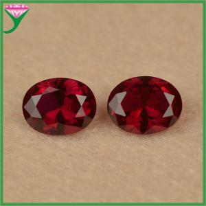 Best wholesale rough loose oval cut 8# dark red corundum ruby gemstone for sale wholesale