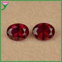 Buy cheap wholesale rough loose oval cut 8# dark red corundum ruby gemstone for sale from wholesalers