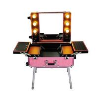 Best Aluminum Cosmetic Travel Case , Professional Makeup Vanity Box With Lights wholesale