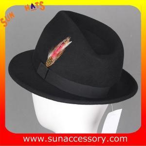 Best 4190369 Sun Accessory customized  winner  fashion 100% wool felt fedora hats,hats for men wholesale
