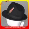 Buy cheap 4190369 Sun Accessory customized winner fashion 100% wool felt fedora hats,hats from wholesalers