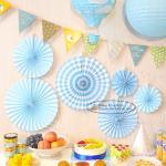 Best Candy Color Paper Fan Suit  Wedding Dessert Table Decorations wholesale