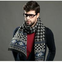 Best Classic plover men scarf collar with thick long super soft wool cashmere wool scarf wholesale