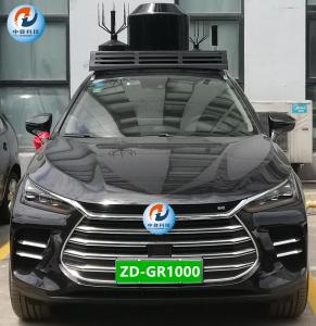Best 1000W Vehicle Cell Phone Jammer 500m Jamming Radius With Walkie Talkie Bands wholesale