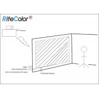 Best 3D Holographic Rear Projector Film Adhesive Grey For Glass wholesale