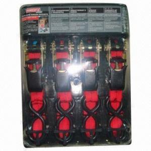Best 4 pieces ratchet tie down straps, PE webbing wholesale