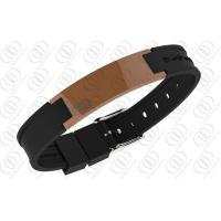 Best Stainless Steel Magnetic Bracelets Brown Ceramic  2500 Gauss NdFeb Magnets wholesale