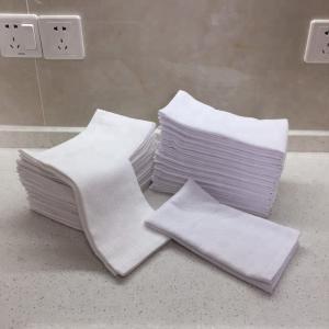 Best 100% Cotton 44g/Pc White Face Towels wholesale