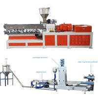 Best High Capacity Plastic Dual Screw Extruder With Water Ring Pelletizing System wholesale