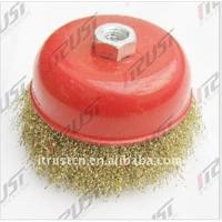 Best Bowl cup brush crimped wire ,wire brush brass coated wire wholesale