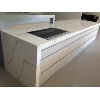 Wholesale Calacatta White Marble Imitation Quartz Stone Countertop More Durable than Granite