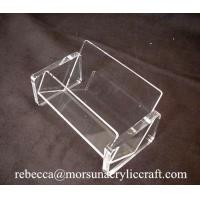 Best Simple Transparent Business Name Card Holder Acrylic Display Case wholesale