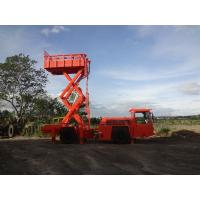 Best Two Layers Scissor Lift Truck For Ventilation Ducts / Fans Installation wholesale