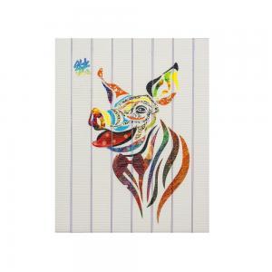 China Twelve Animals Pig Chinese Zodiac Painting , Hanging Decorative Yarn Art Ribbon on sale