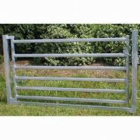 China 80 x 40mm Oval Rail Horse Panel Gate on sale