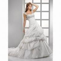 Best 2012 Spaghetti Strap Organza Bridal Gown wholesale