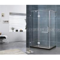 Best 180 Degree Stainless Hinge Shower Enclosures  Rectangle With Support Bar 8 MM Tempered Glass wholesale