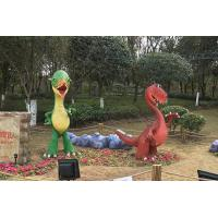 China Amusement Park Family Combination Custom Fiberglass Products Hand Made Dinosaurs on sale