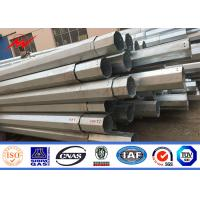 Best Hot dip galvanization 8m 5KN 11.8m steel electric power pole for transmission wholesale