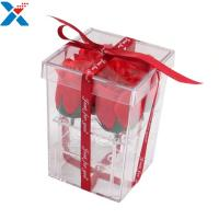 Best Flower Packing Clear Acrylic Box Display Cases Organizer Rose Gift Box With Cover wholesale
