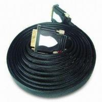 Best Flat DVI Plug to DVI Plug Cable with Nylon Braiding and Double Mold Plastic Shell wholesale