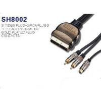 Best Scart Cable to S-video+ 2 RCA Plug (SH8002A) wholesale