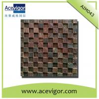 Best Natural solid wood mosaic for wall decoration wholesale