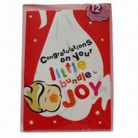 China Promotional record greeting card, made of ivory board on sale